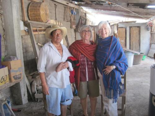 Antonino, Linda and Peg in new rebozos