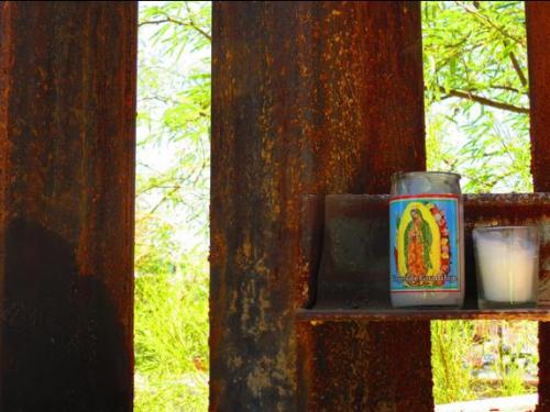 Virgen de Guadalupe keeps watch on the wall