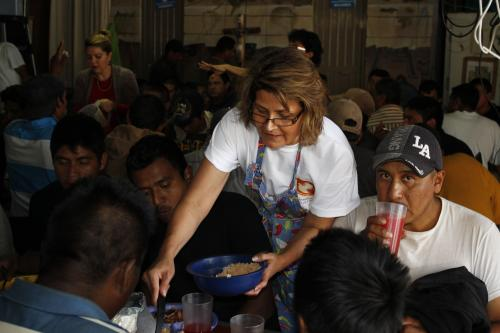 Feeding the hungry at the comedor