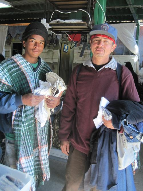 Two young men from Honduras