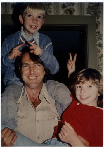 Chuck with our children, Sage and Cheyenne Weil, 1984