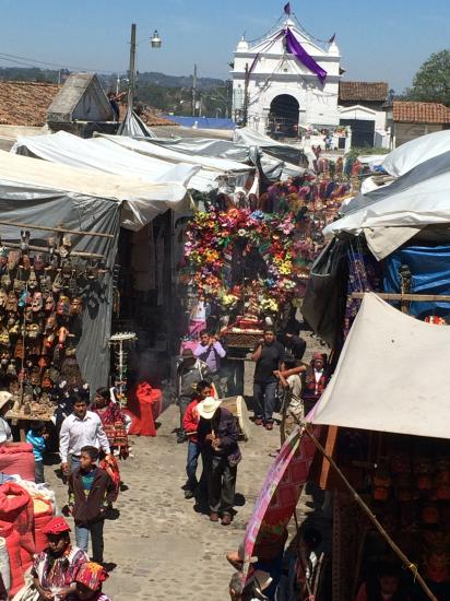 Procession through the market of Chichicastenango